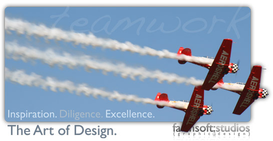 FarmSoft Studios Graphic Design & Web Design; Inspiration. Diligence. Excellence. The Art of Design.